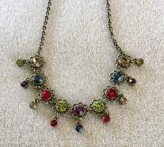 Vintage VCLM Rhinestone Necklace - $29.00