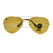 Glass Lens Aviator Sunglasses Classic Tear Drop Cop Pilot Frame - $8.95