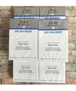 6 Pack Dove Derma Series Dry Skin Relief Gentle Cleansing Face Bar Soap ... - $29.99