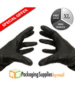 Black Nitrile Disposable Gloves Powder Free (Non Latex Vinyl Exam) XL Si... - $32.44
