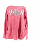 Style & Co Women's Sweater L Large Pink Joy Glitter Top  - $24.74