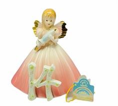 Josef Originals figurine birthday girls vtg porcelain angel 14 fourteen ... - $43.32