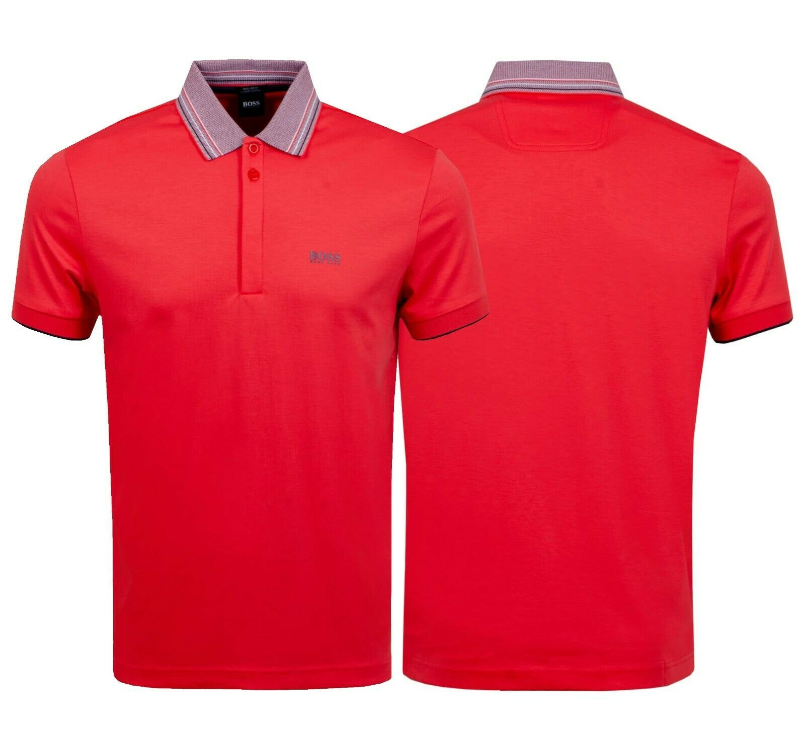 Hugo Boss Men's Short Sleeve Regular Fit Paddy 1 Bright Red Polo Shirt SS20