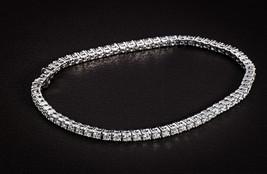 "Damiani ""FABULA"" 18K White Gold Classic Pave Diamond Bracelet 5.2 carats - $16,424.00"