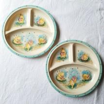 2 Vintage Winnie The Pooh Melamine Divided Dish Plate Selandia Childrens... - $19.34