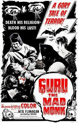 Primary image for Guru The Mad Monk - 1970 - Movie Poster