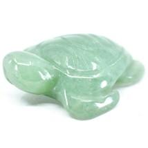 Aventurine Quartz Gemstone Miniature Sea Turtle Figurine Hand Carved in China image 2