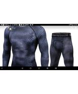 Men T shirts Trousers Set 2pc Men's Sportswear Compression Suit Joggers ... - $45.99