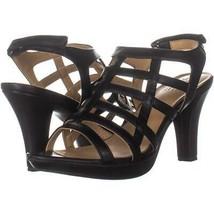 naturalizer Daphne Strappy Heeled Sandals 167, Black Smooth, 8 US / 38 EU - $28.78