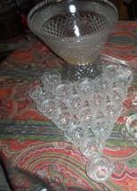 Vintage Wexford Punch Bowl Set 11 Qt. w/ Stand,18 cups, Ladle, Clips - 39pc Set - $34.99