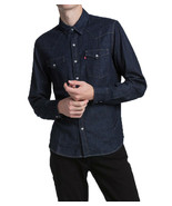 Levi's Men's Classic Barstow Western Casual Denim Dark Wash Dress Shirt - $42.95