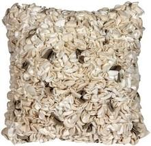 Pillow Decor - Summer Blossom Natural 18x18 Throw Pillow (BB1-0004-02-18) - $139.95