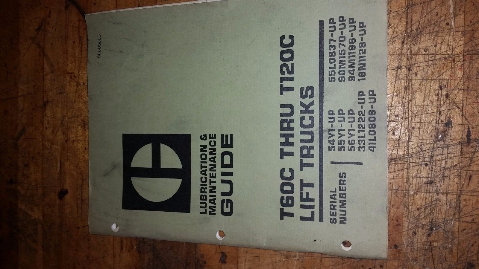 Caterpillar T60c Thru T120c Lift Trucks Lubrication & Maintenance guide Manual