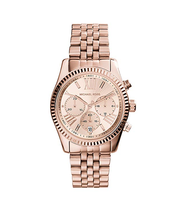 New Michael Kors Lexington Chronograph Rose Gold MK5569 Wrist Watch for ... - $108.85