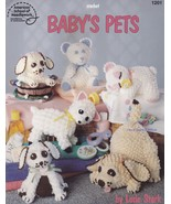 Baby's Pets, Crochet Baby-Safe Stuffed Animals Pattern Booklet ASN 1201 ... - $12.95