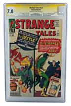 Strange Tales #123 Cgc 7.0 Ss Signed Stan Lee Savannah 1ST Beetle Thor X-OVER - $799.99