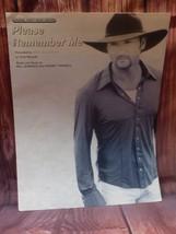 WB Please Remember Me Tim McGraw Original Sheet Music Edition 1999 w/ Ly... - $9.68