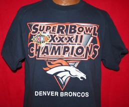 Denver Broncos 1998 Super Bowl Xxxii Champions T-SHIRT L Nfl Football John Elway - $21.99