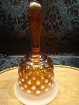 Vintage Amber Fenton Hobnail Bell - $13.00