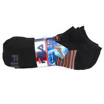 FILA Men's 6 Pack Classic Sport Athletic Gym Moisture Control Absorb Dry Socks image 3