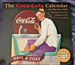 The Year 2000 Y2K Collectible Coca-Cola Special Commemorative Edition Calendar - $15.43