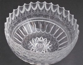 "Unique Cut Glass ABP Antique 8"" bowl - $102.85"