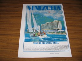 1964 Print Ad Macuto Sheraton Hotel Andes Mountains Venezuela - $10.72