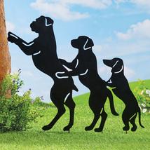 Conga Line Dog Shadow Silhouettes Funny Novelty Metal Yard Decoration - $11.31