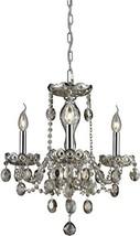 Elk 80051/3 Balmoral 3-Light Chandelier with Teak Plated Crystal Glass S... - $103.25