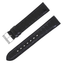 Breitling 18-18mm Genuine Leather Black Ladies Watch Band w. Buckle - $356.45