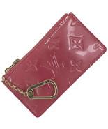 Auth Louis Vuitton Vernis Coin Case Framboise Patent Leather Logo LVB0634 - $405.90