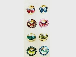 Michael's Glass and Rhinestone Butterfly Stickers, Set of 8 #170990