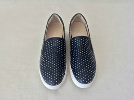 Kenneth Cole King 3 Navy Blue Leather Studded Slip-On Unisex Sneakers, Shoes. 9 - $113.85
