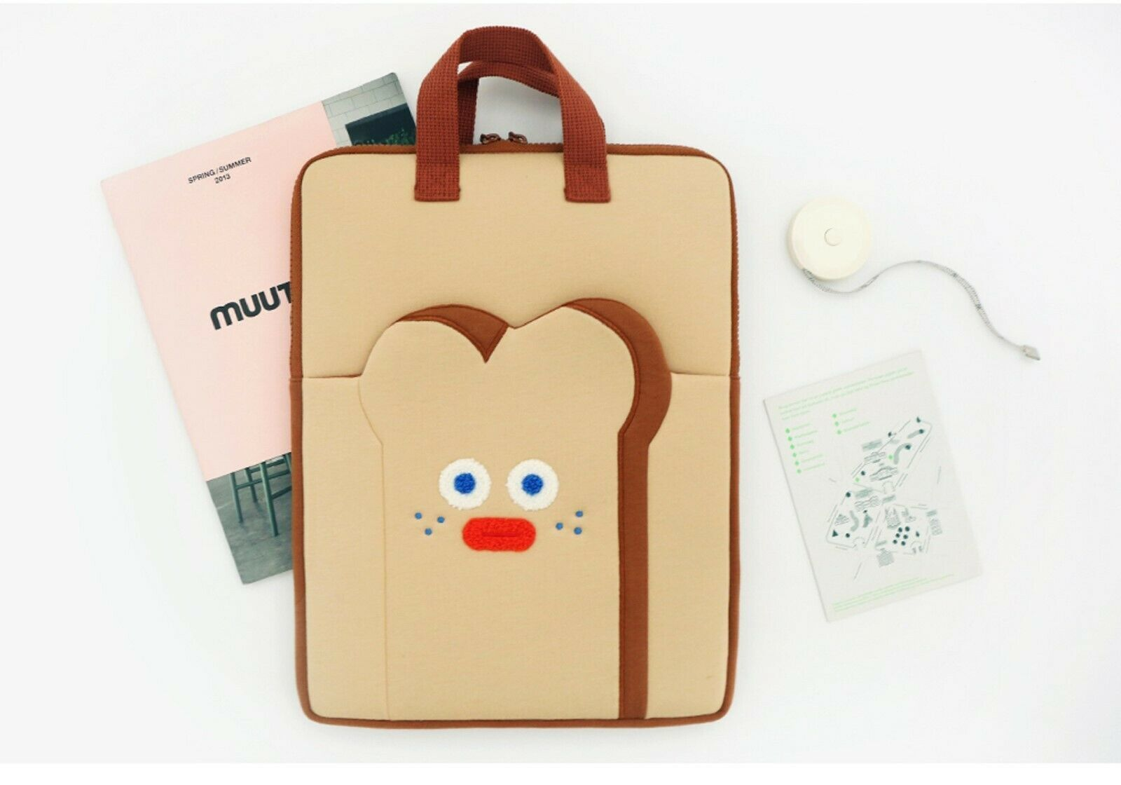 """Brunch Brother Laptop Case Bag Sleeve Pouch Briefcase 13"""" to 14"""" (Toast)"""