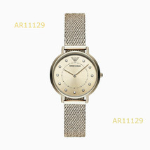 New Emporio Armani Dress Rose Gold Dial Analog Quartz Women's Watch AR11129 - £125.30 GBP