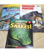 Scholastic Snakes Dinosaurs, Alligators Reading Books Lot of 3 - $13.84