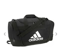 BLACK/WHITE adidas Defender III Small Duffle Bag (D) - $148.49