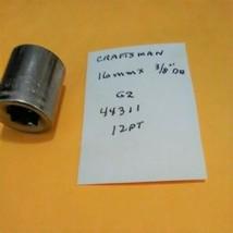 """Craftsman  16 mm x 3/8"""" Dr Socket 12 Pt G2 44311 - $7.84 CAD"""