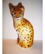 Fenton Glass Realistic Wild Leopard Stylized Cat GSE J.K. Spindler Ltd E... - $231.83