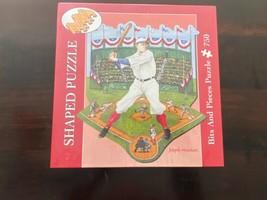 Baseball Shaped Stadium PUZZLE Batter Up Bits And Pieces Joseph Holodook 750 - $39.51