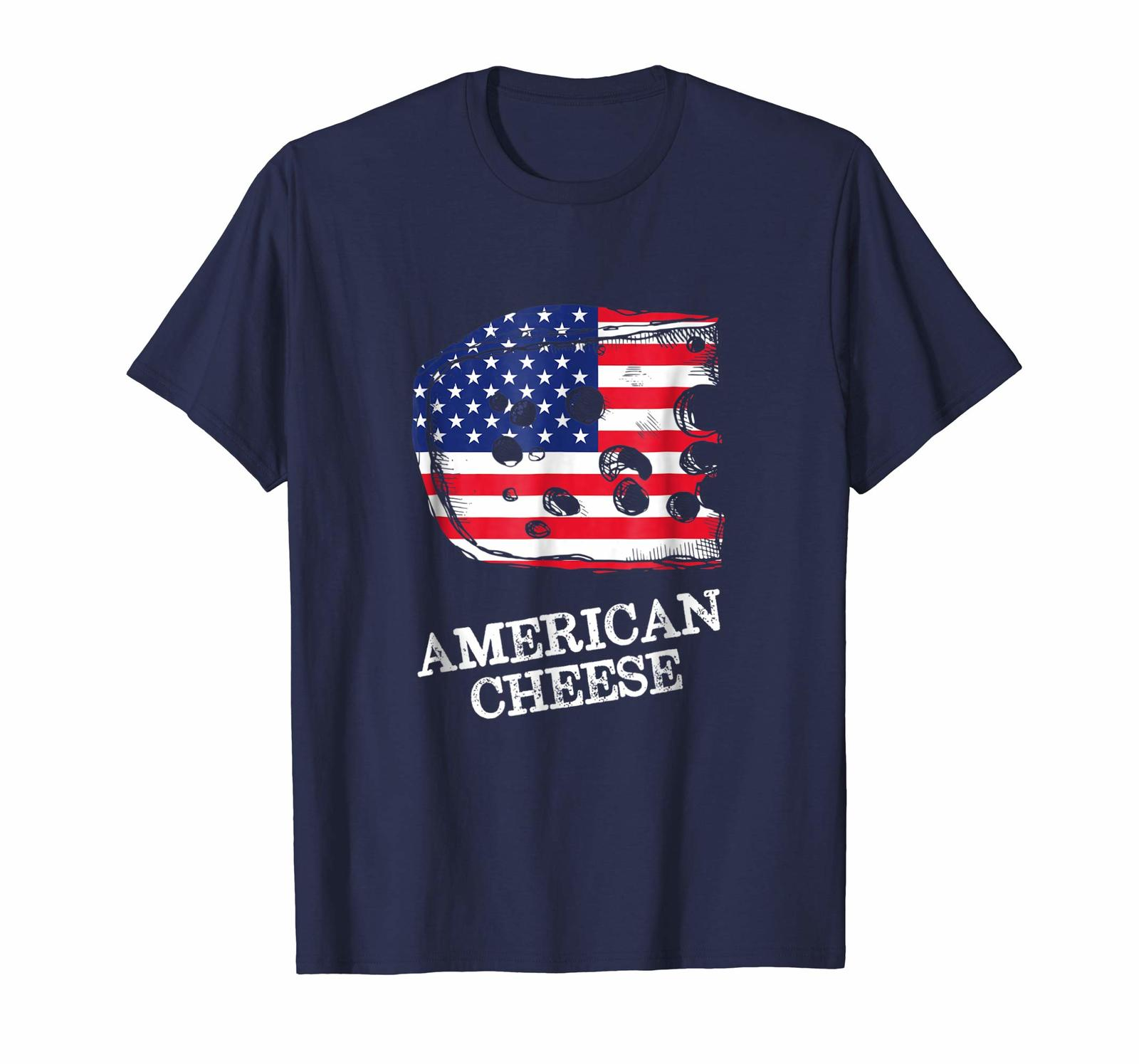 Primary image for Brother Shirts - USA Flag 4th July Red White Blue Stars Stripes Cheese Men