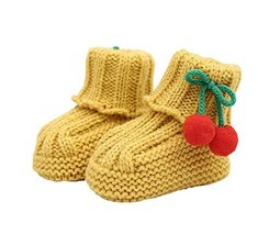 Durable Lovely Winter Baby Shoes Warm Cute Cherry Indoor Outdoor Socks Y... - $16.26