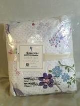 NEW Pottery Barn Kids Brannan Flower Lavender Bird Full Sheet Set  RARE - $82.28