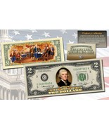 """1976 BICENTENNIAL """"DECLARATION OF INDEPENDENCE"""" COLORIZED BILL! W/H COA - $24.49"""