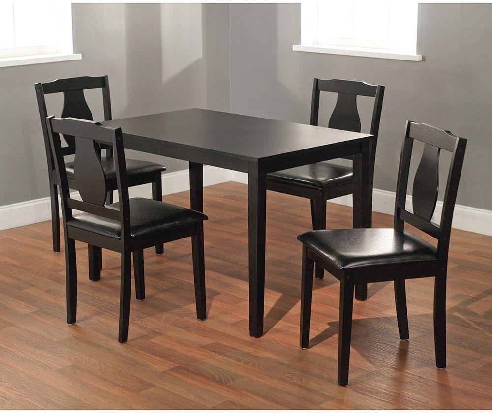 Simple Living Black 5-piece Kaylee Dining Set