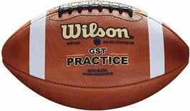 New Authentic Wilson Gst Collegiate Official Practice Series Leather Football - $132.99