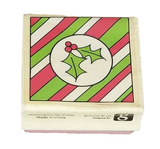 Hampton Art Christmas Rubber Stamp Mounted on Wood image 1