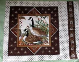 Vintage Pillow Panels Game Birds Cranston Print Works - 2 Panels - Duck,... - $3.91