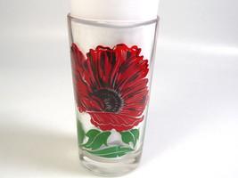 Mid Century modern Peanut Butter Drink glass Boscul Poppy Flower collect... - $61.01