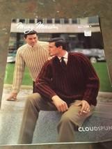 New Mary Maxim Cloudspun Knitting Pattern Men's 1106 1970S Sweater Jacket Vtg - $7.74
